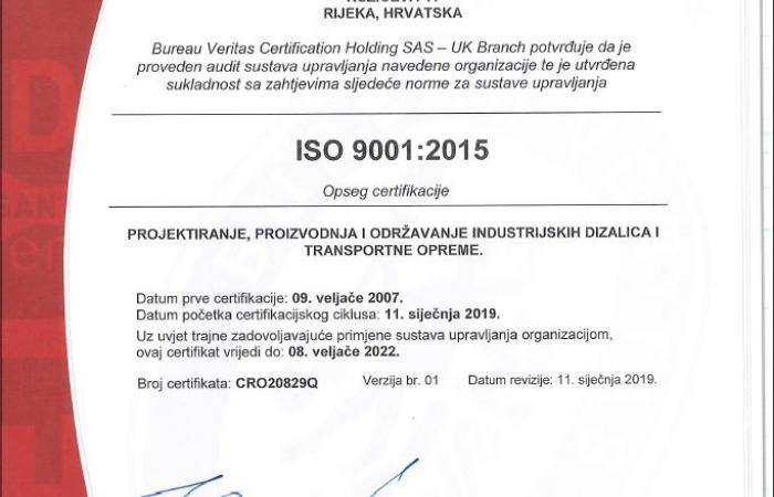 ISO 9001 certifikat hr